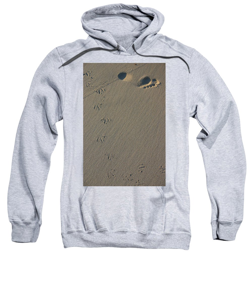 Beach Sweatshirt featuring the photograph Fleeting Moments by Fraser McCulloch