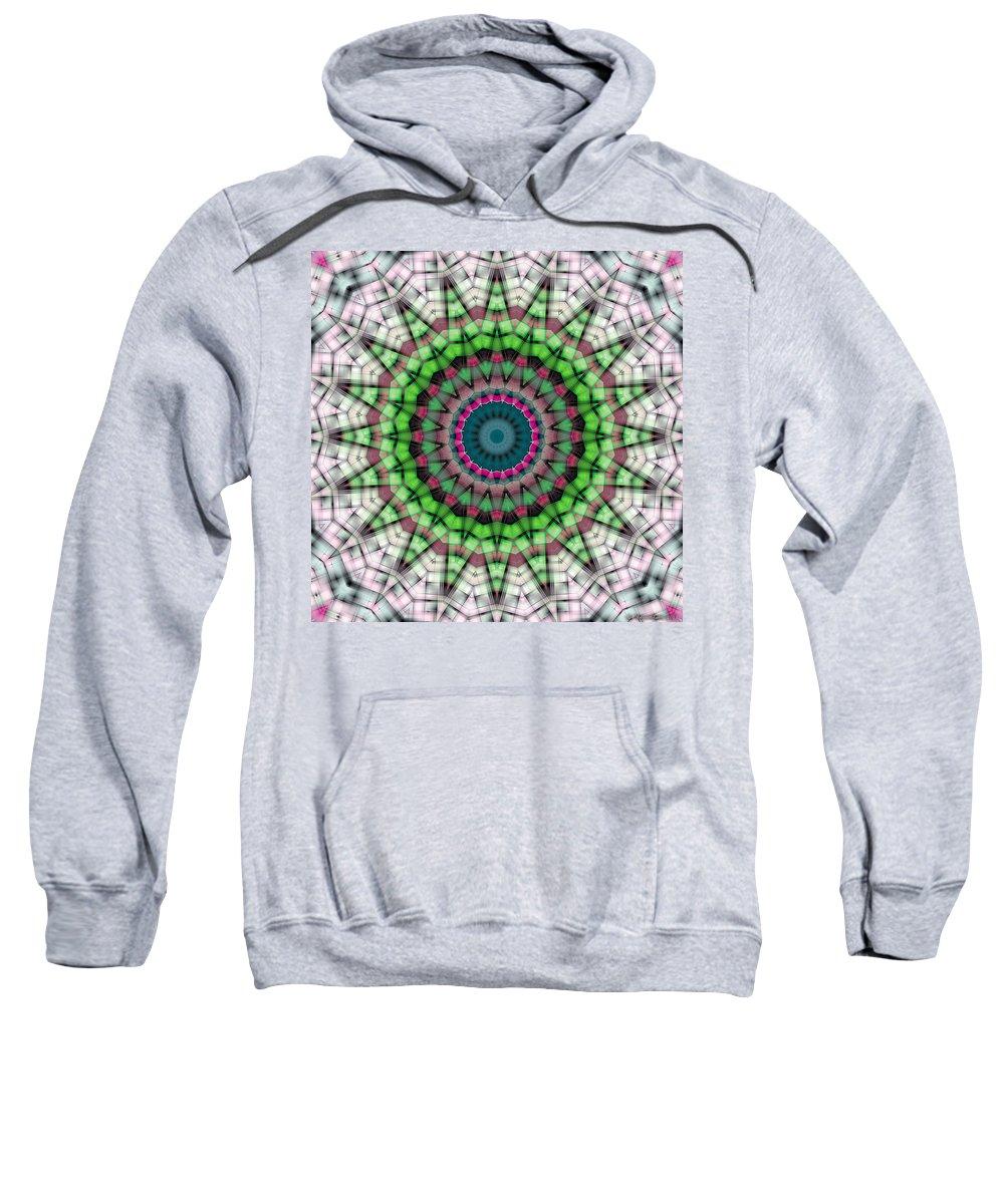 Relaxing Pattern Sweatshirt featuring the digital art Mandala 26 by Terry Reynoldson