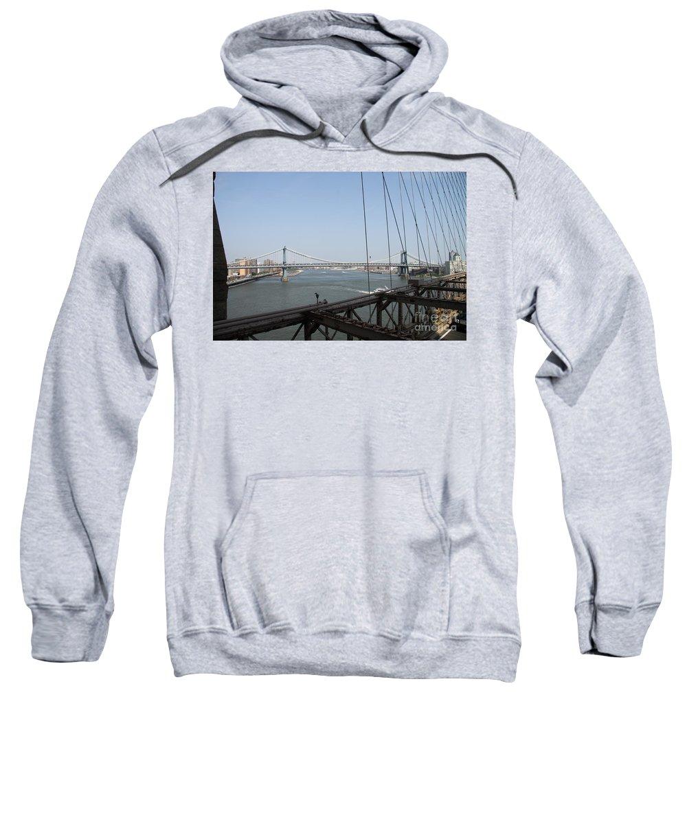 Manhattan Bridge Sweatshirt featuring the photograph Manhattan Bridge by Christiane Schulze Art And Photography