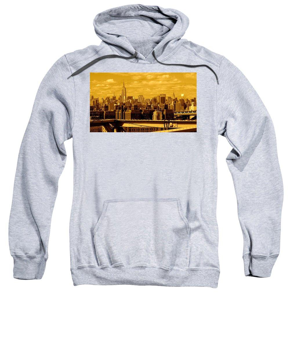 Manhattan Ny Prints Sweatshirt featuring the photograph Manhattan Skyline by Monique's Fine Art