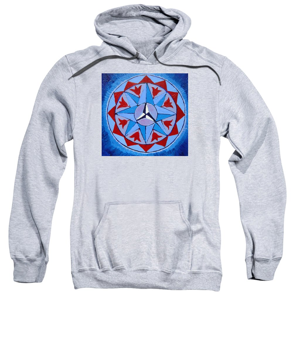 Mystic Sweatshirt featuring the painting Manifested Order by Joanna Pilatowicz