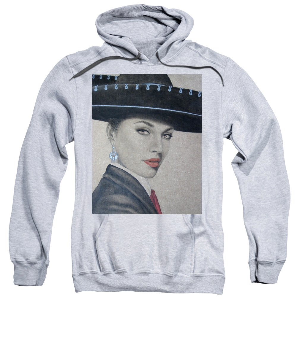 Mariachi Sweatshirt featuring the painting Mariachi by Lynet McDonald