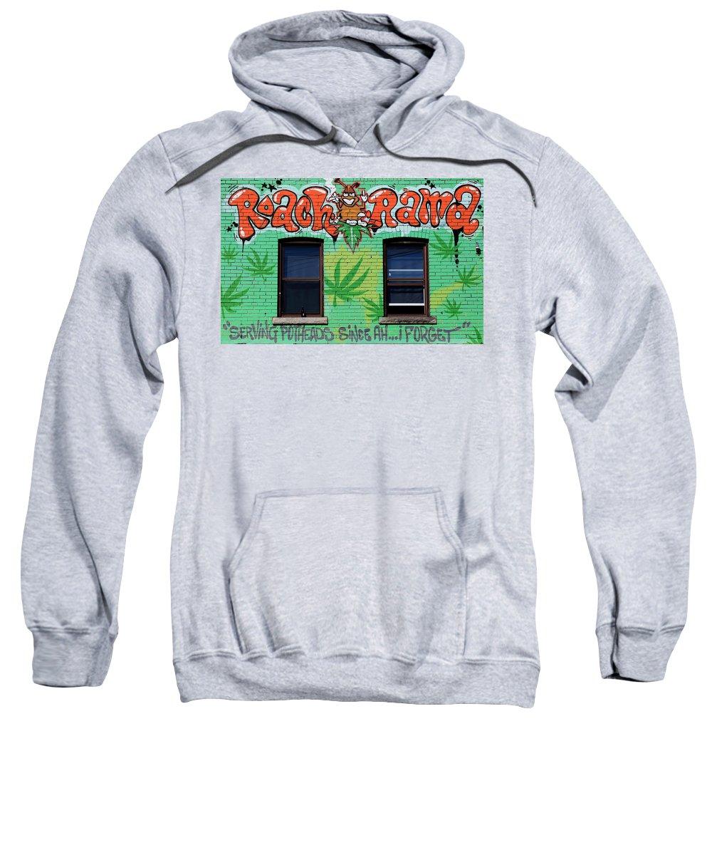 Marijuana Sweatshirt featuring the photograph Marijuana 3 by Andrew Fare