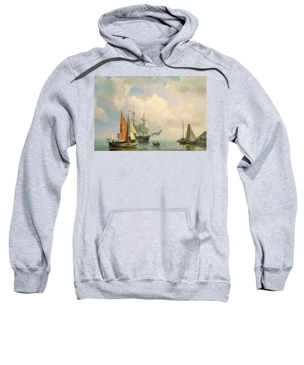 Century Sweatshirt featuring the painting Marine by Johannes Hermanus Koekkoek