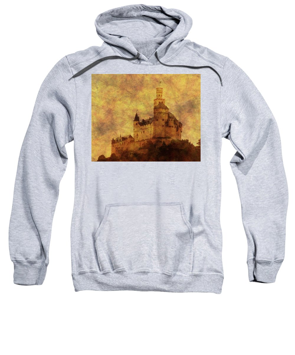 Castle Sweatshirt featuring the photograph Marksburg Castle In The Rhine River Valley by Greg Matchick
