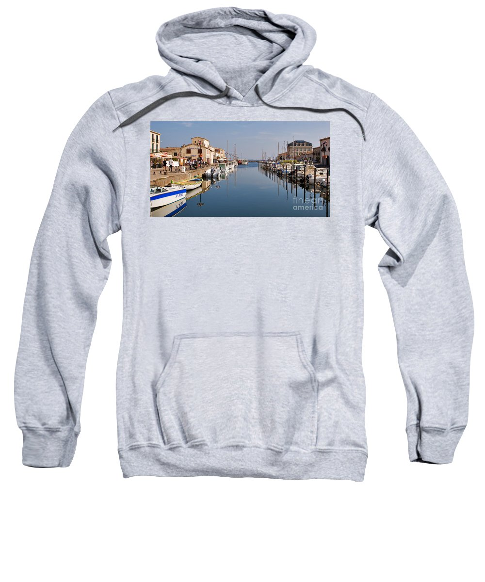 Travel Sweatshirt featuring the photograph Marseillan Harbour by Louise Heusinkveld