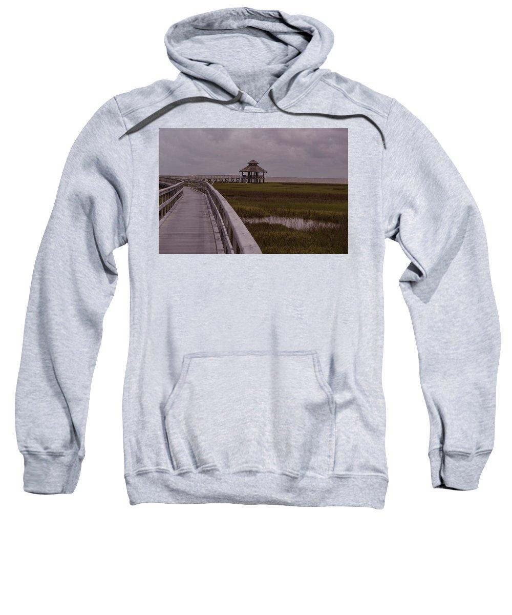 Texas Sweatshirt featuring the photograph Marsh Boardwalk by JG Thompson