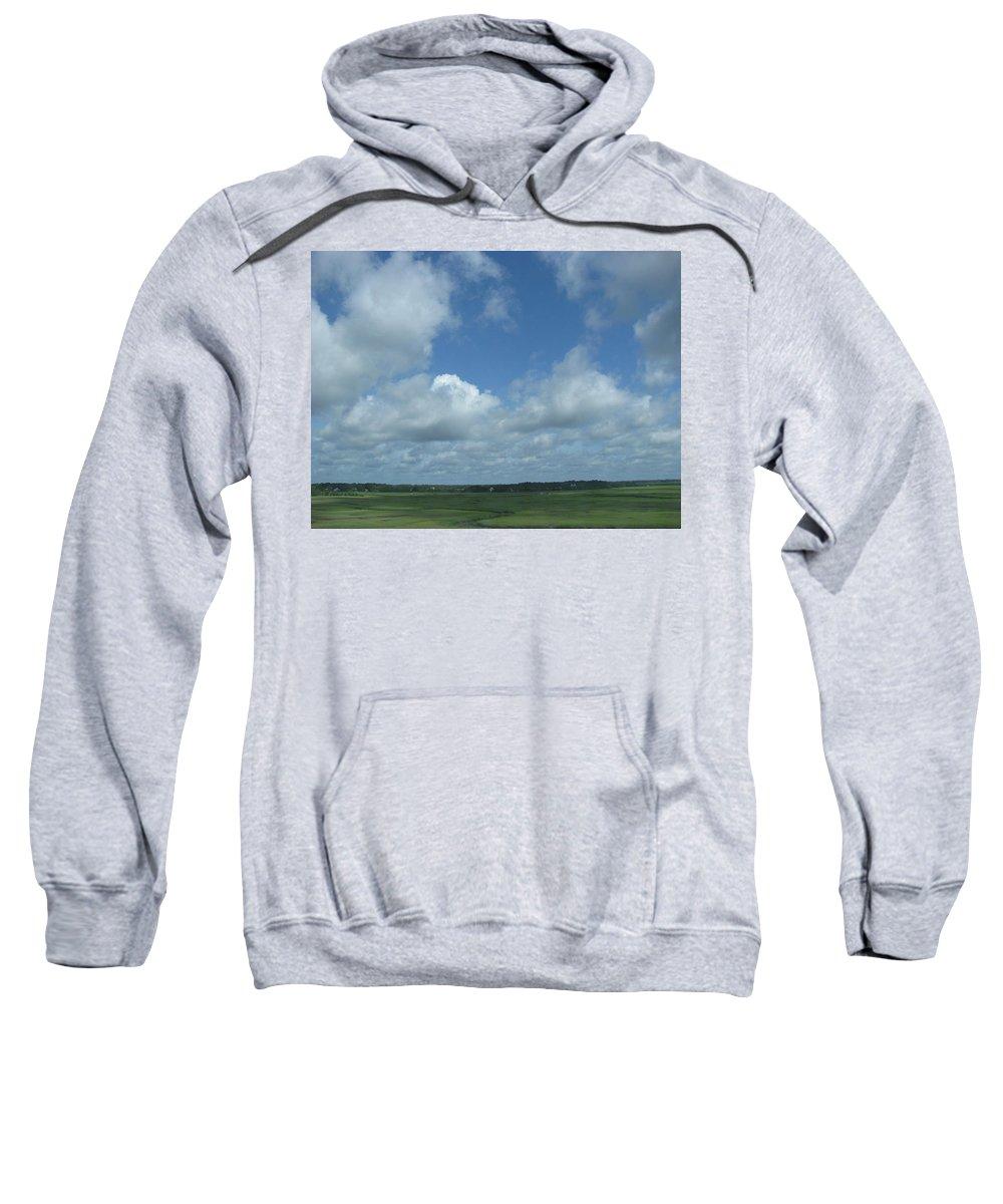 Landscape Sweatshirt featuring the photograph Marsh Waterways by Ellen Meakin