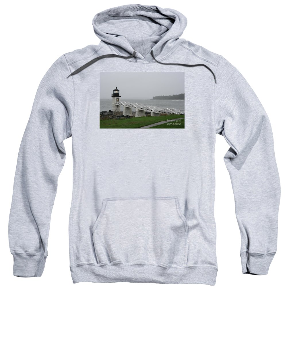 Lighthouse Sweatshirt featuring the photograph Marshall Point Light Station - Maine by Christiane Schulze Art And Photography