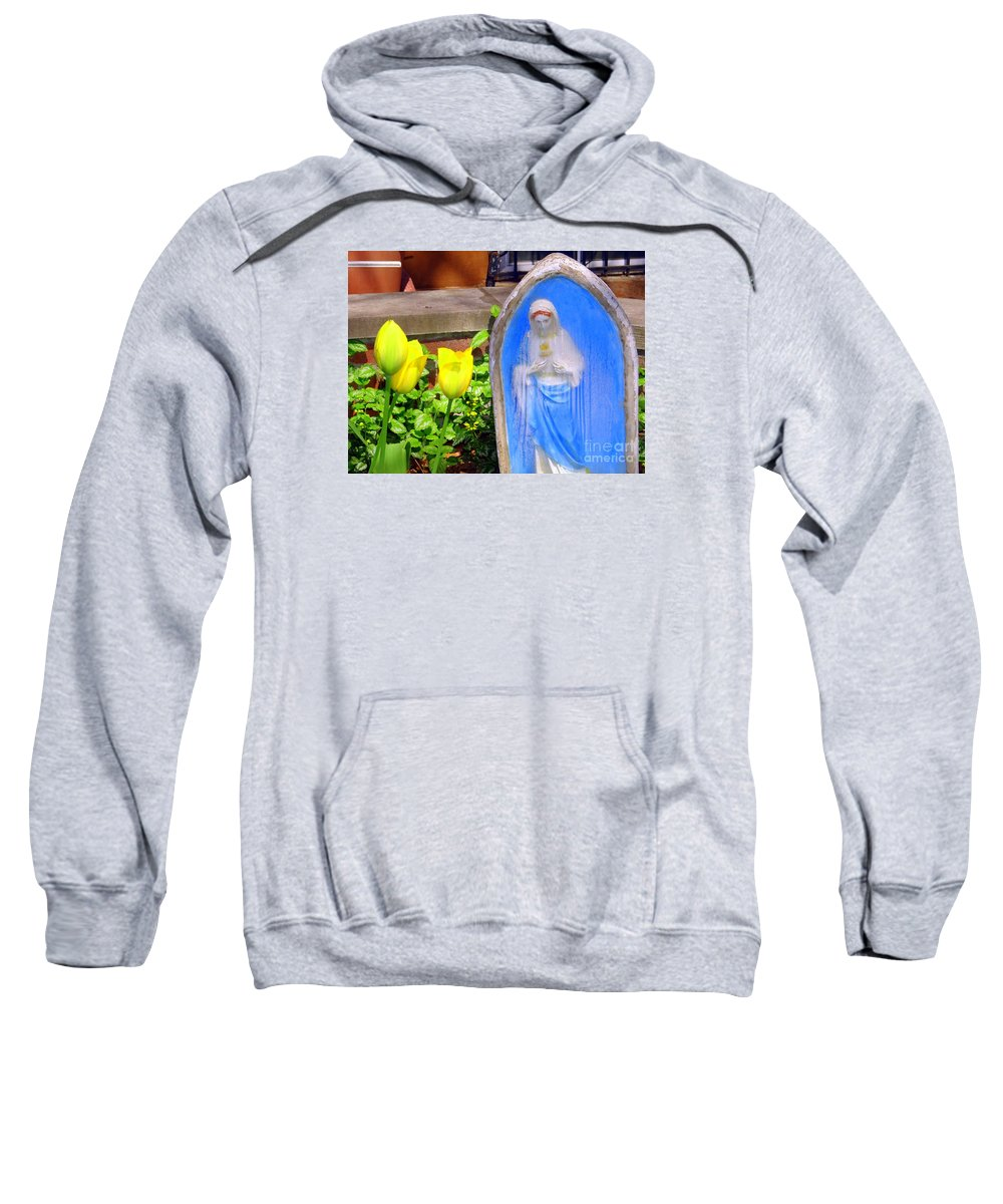 Tulips Sweatshirt featuring the photograph Mary In Springtime by Ed Weidman