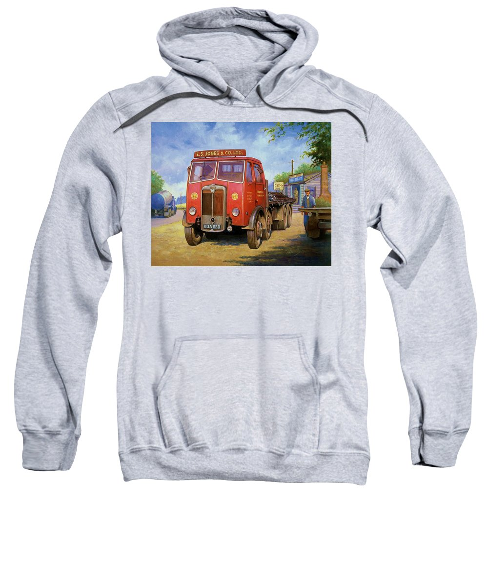 Painting For Sale Sweatshirt featuring the painting Maudslay Meritor by Mike Jeffries