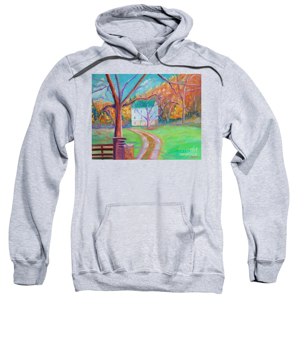 Grist Mill Sweatshirt featuring the painting Mc Donalds Mill by Todd Bandy