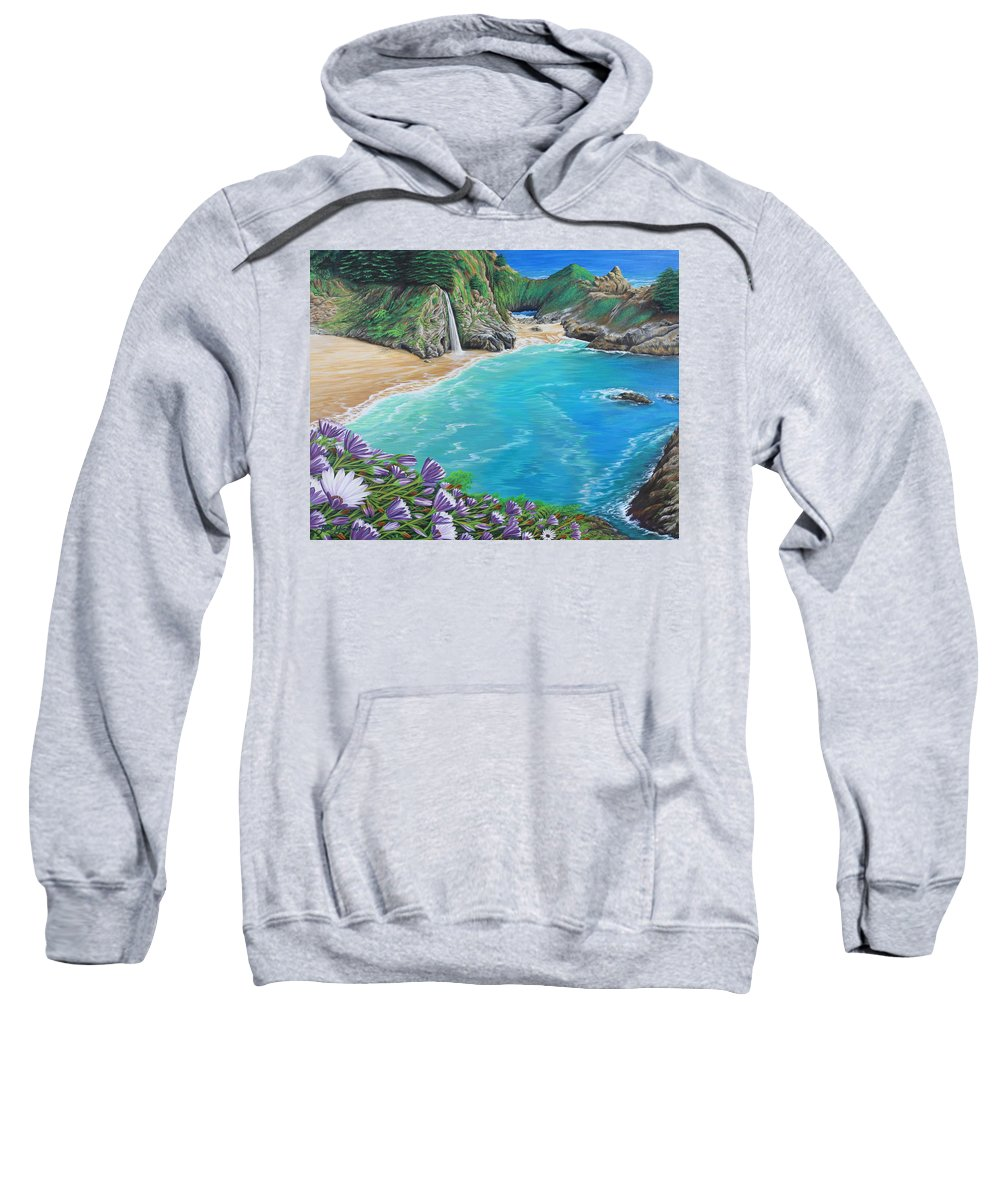 Beach Sweatshirt featuring the painting Mcway Falls by Jane Girardot
