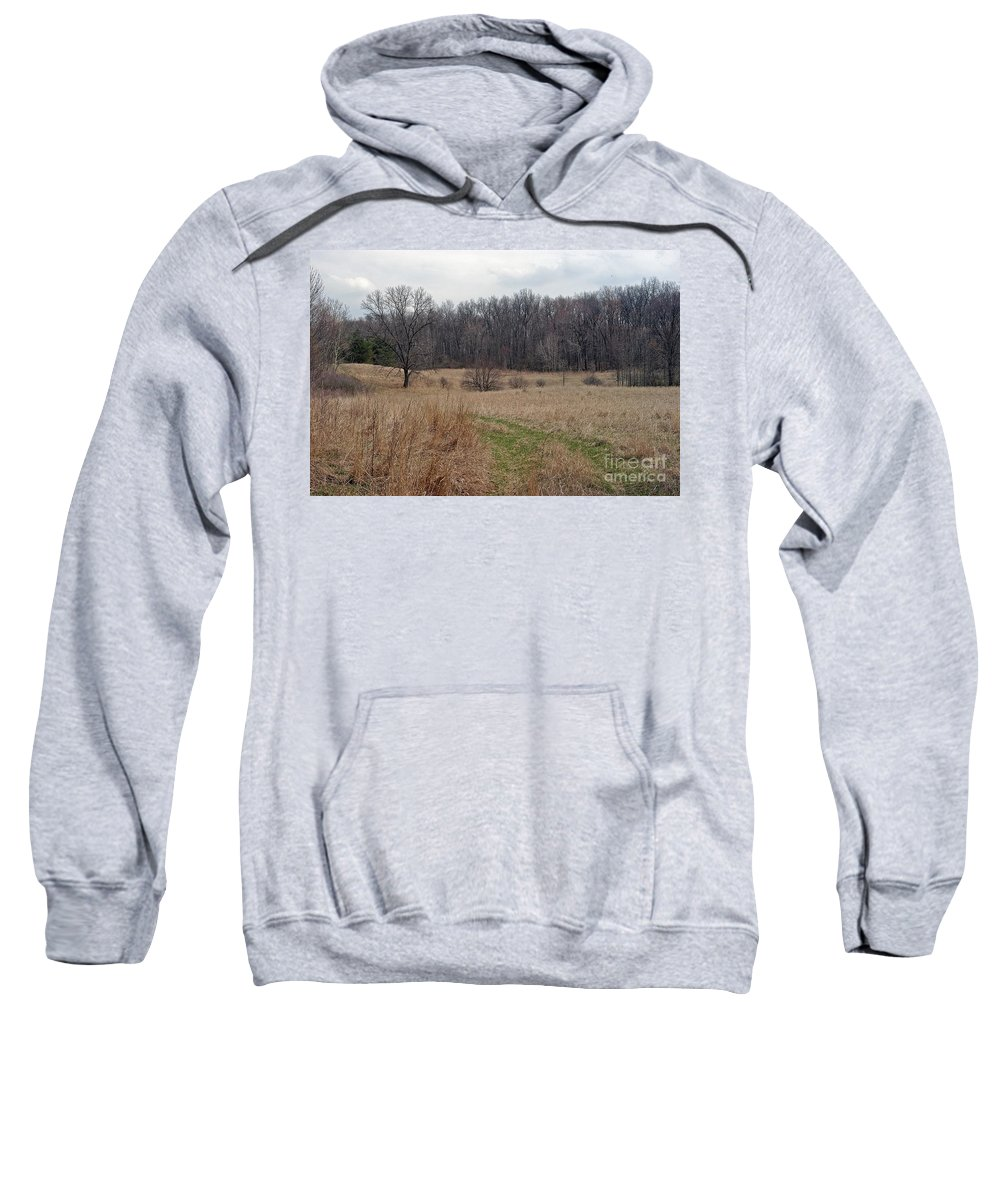 Field Sweatshirt featuring the photograph Meadow by Joseph Yarbrough