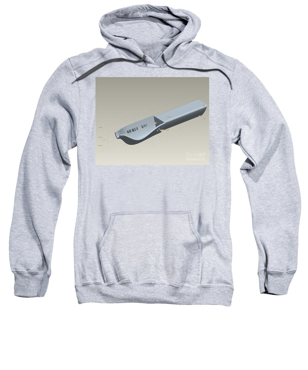 3d Design Sweatshirt featuring the digital art Medical Spoon Design by Eric Schiabor