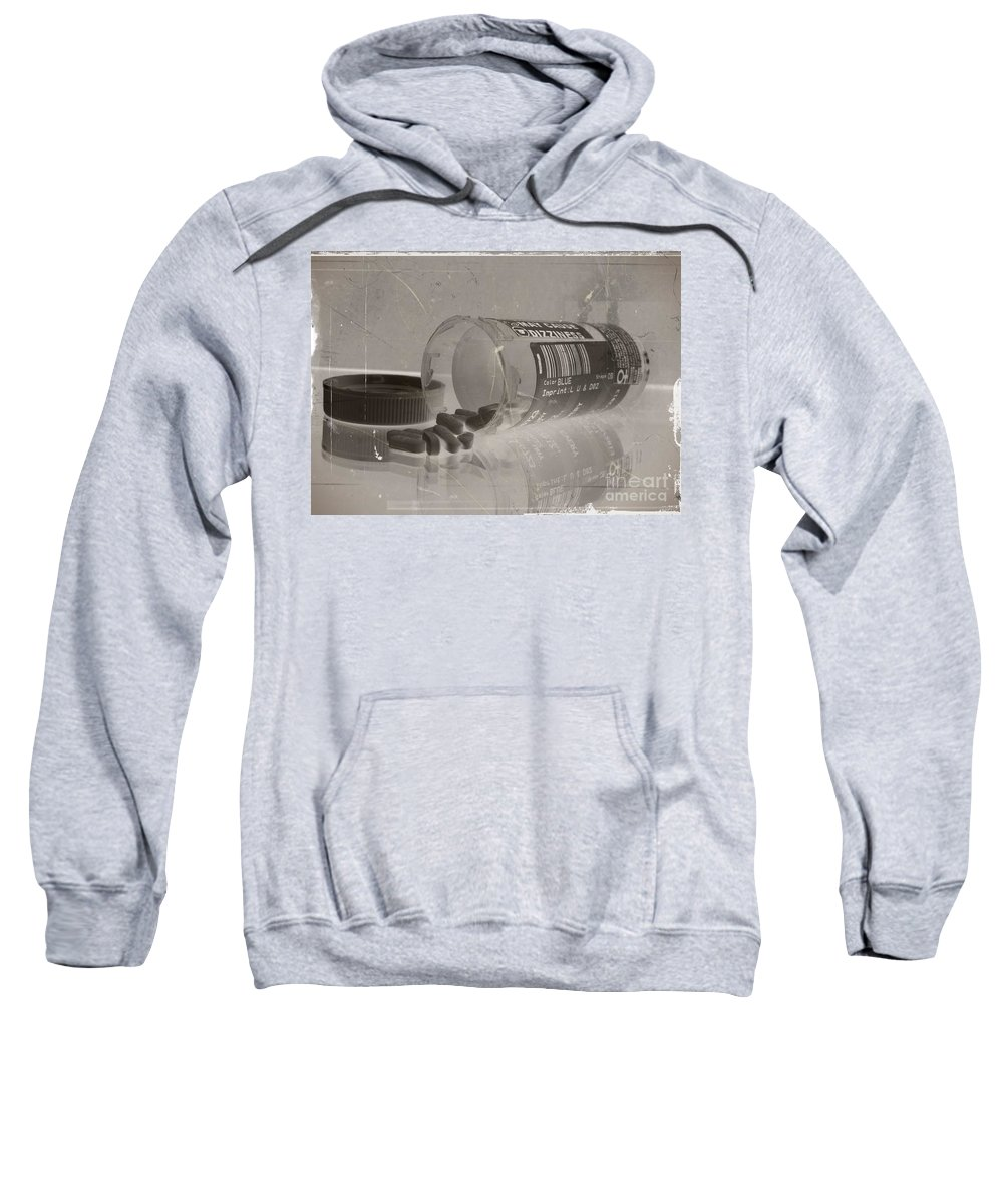 Medication 3 Sweatshirt featuring the mixed media Medication 3 by Chalet Roome-Rigdon