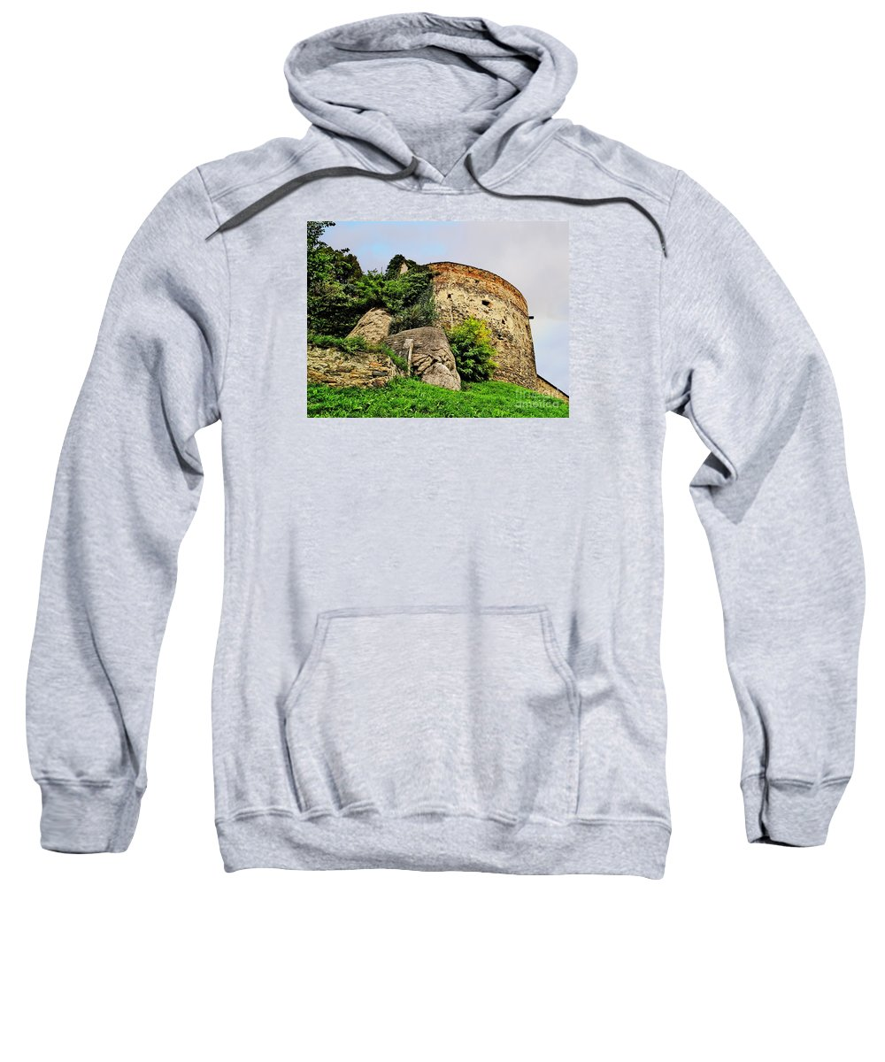 Travel Sweatshirt featuring the photograph Medieval Tower by Elvis Vaughn