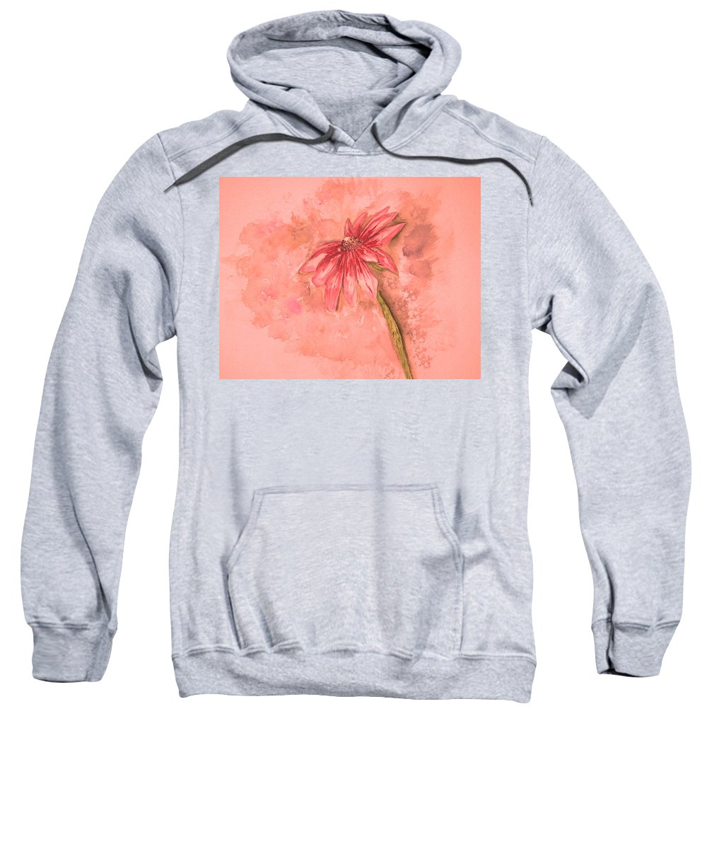Watercolor Sweatshirt featuring the painting Melancholoy by Crystal Hubbard