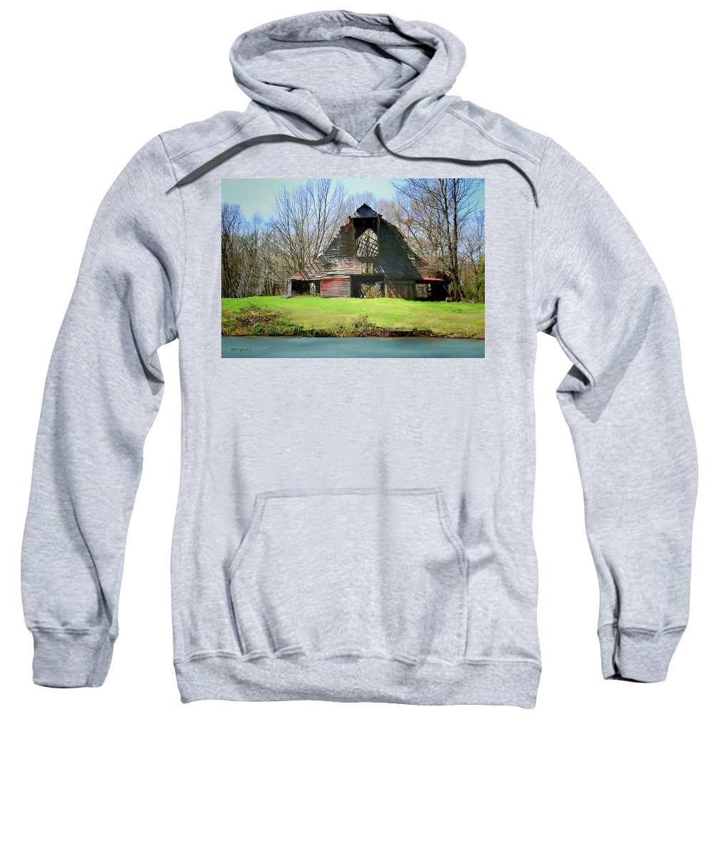 Barn Sweatshirt featuring the photograph Memories by Bonnie Willis