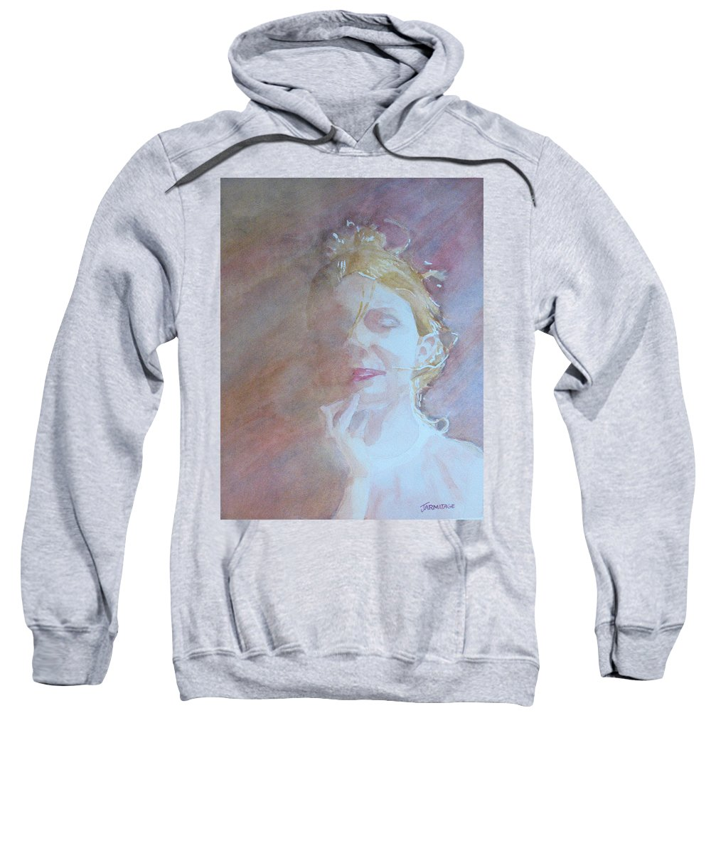 Romance Sweatshirt featuring the painting Memories Of Romance by Jenny Armitage