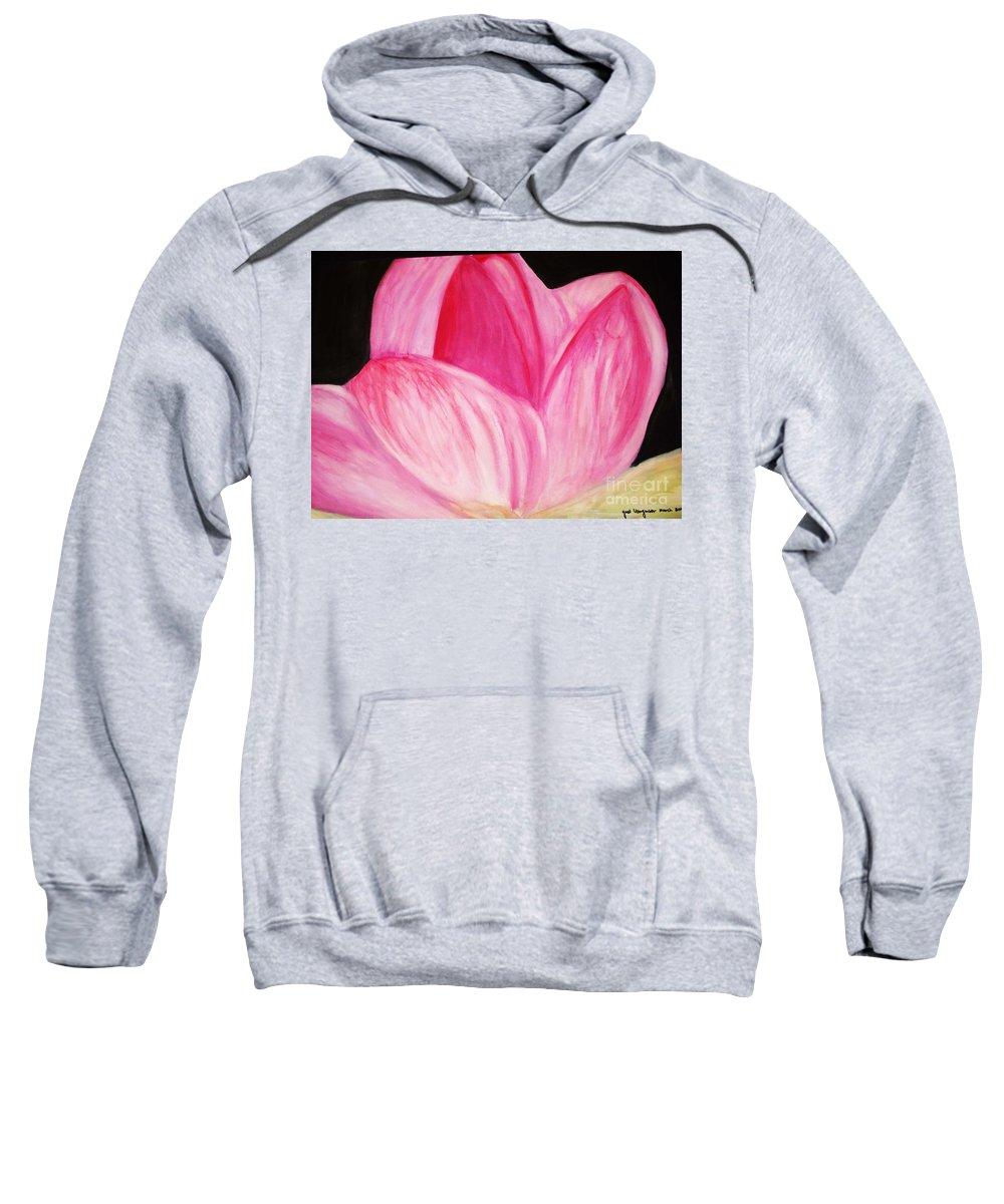 Water Color Flower Sweatshirt featuring the painting Memory by Yael VanGruber