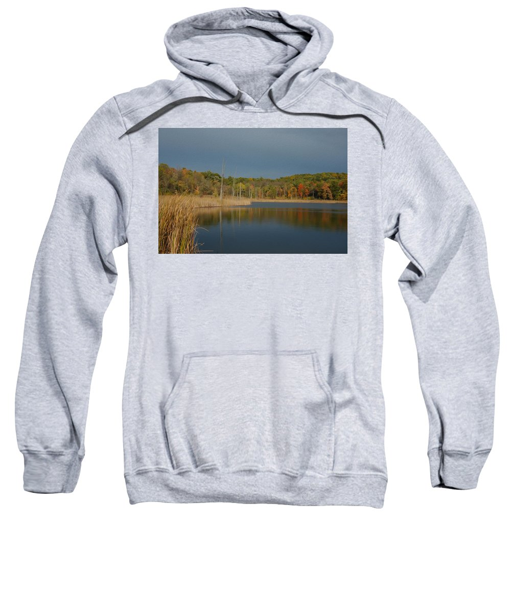 Fall Sweatshirt featuring the photograph Mendon Ponds by Tracy Winter