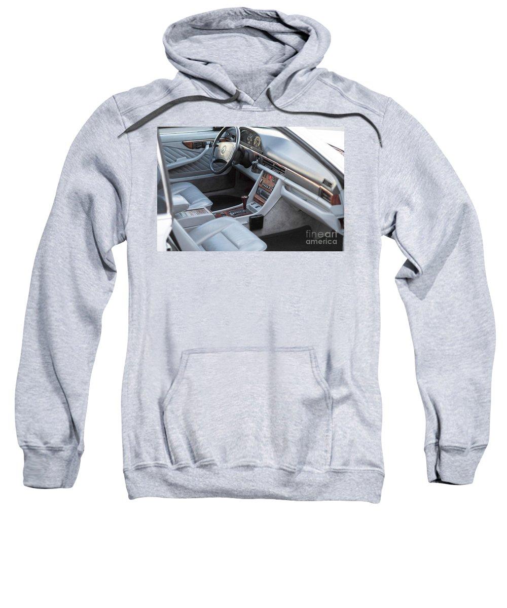 Mercedes Sweatshirt featuring the photograph Mercedes 560 Sec Interior by Gunter Nezhoda