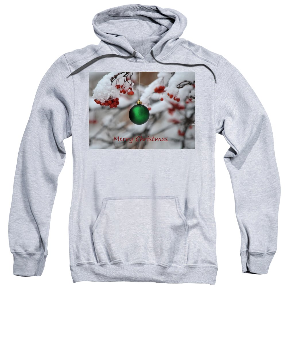 Christmas Sweatshirt featuring the photograph Merry Christmas 4 by Whispering Peaks Photography