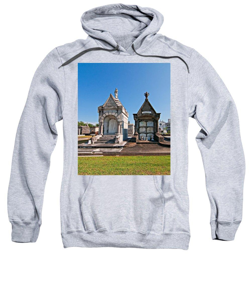 Metairie Cemetery Sweatshirt featuring the photograph Metairie Cemetery 4 by Steve Harrington