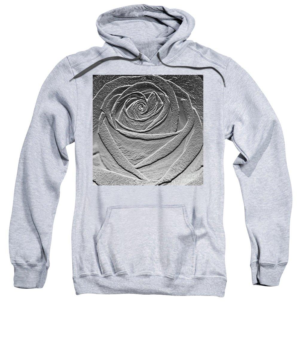 Rose Sweatshirt featuring the digital art Metal Rose by Carol Lynch