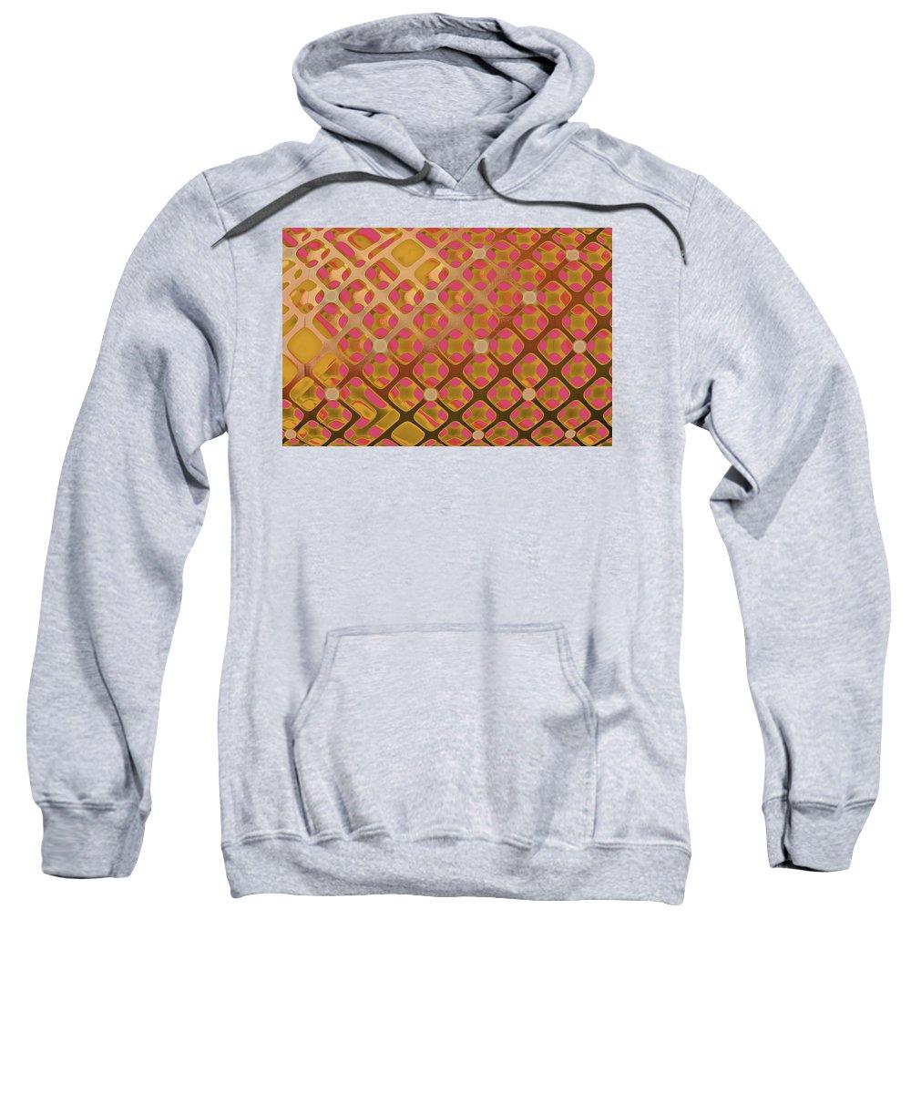 Red Tartan Sweatshirt featuring the digital art Metal Tartan by Pamela Smale Williams