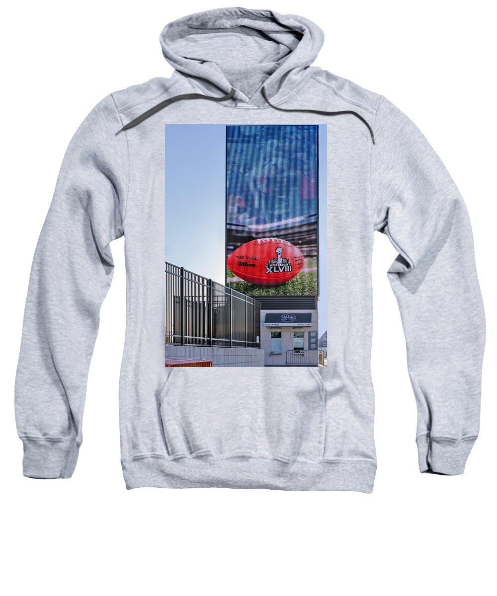Super Bowl Sweatshirt featuring the photograph Metlife Stadium Box Office by Susan Candelario