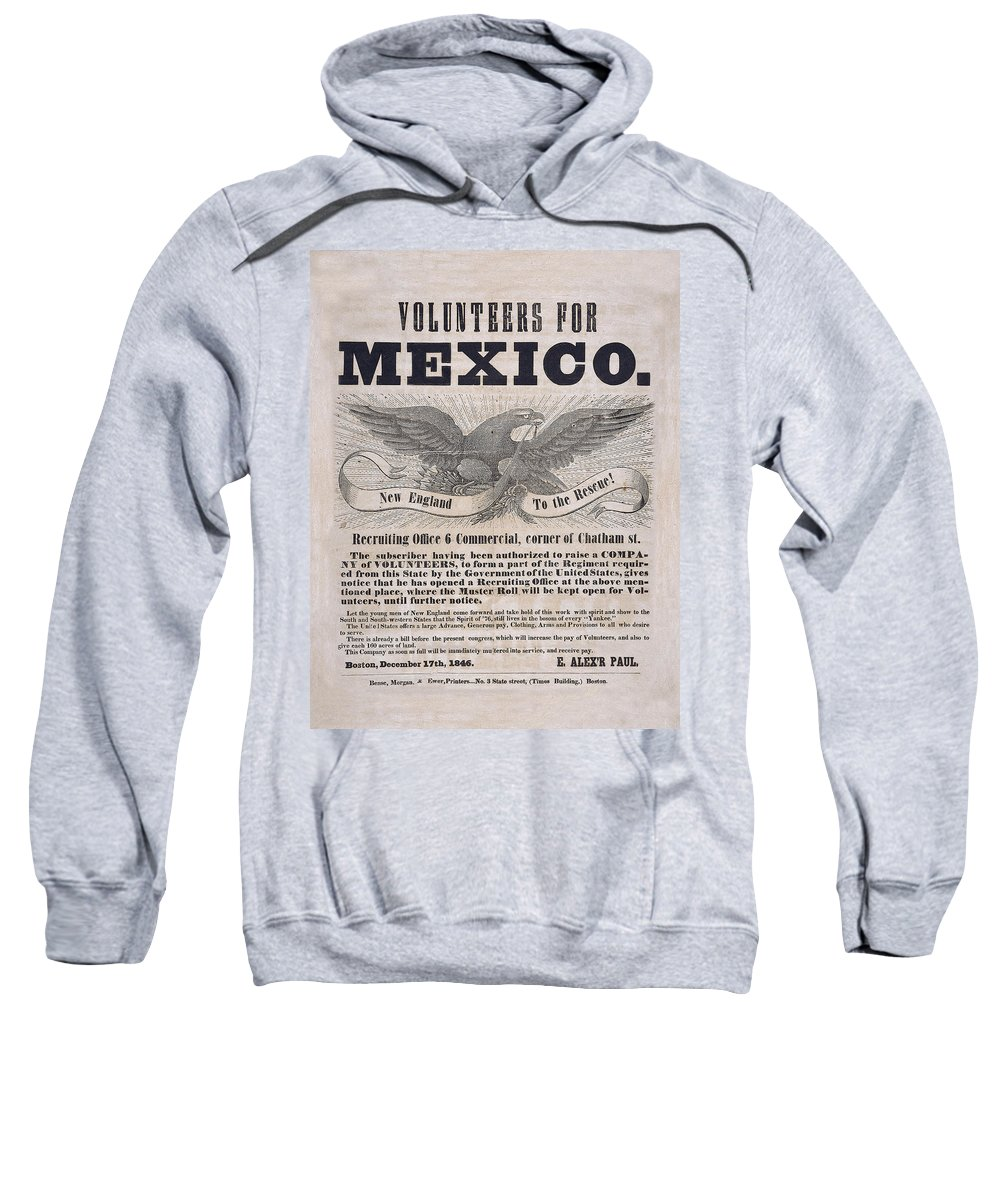 Vintage Flyer Sweatshirt featuring the photograph Mexican American War Flyer by Andrew Fare
