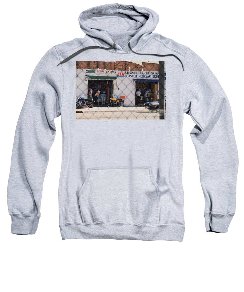 Mexico Sweatshirt featuring the photograph Mexico Tiendas Shops By Tom Ray by First Star Art