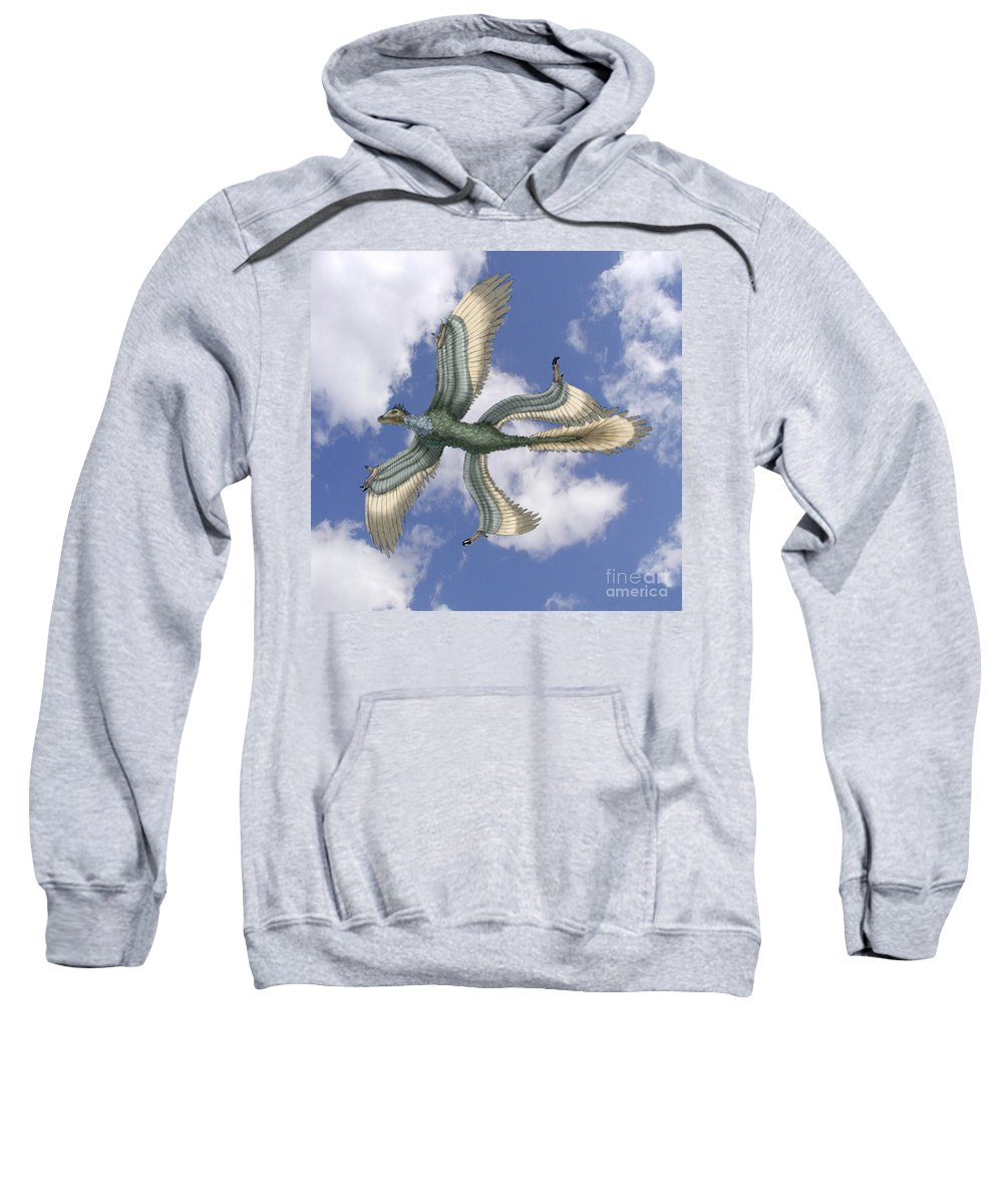 Illustration Sweatshirt featuring the photograph Microraptor by Spencer Sutton