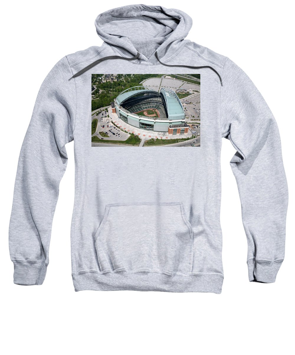 Brewers Sweatshirt featuring the photograph Miller Park Milwaukee Wisconsin by Bill Cobb