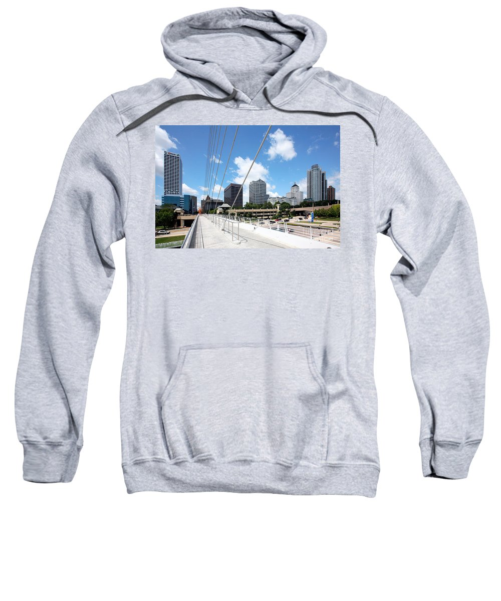 Norhtwestern Mutual Sweatshirt featuring the photograph Milwaukee Wisconsin Skyline by Bill Cobb