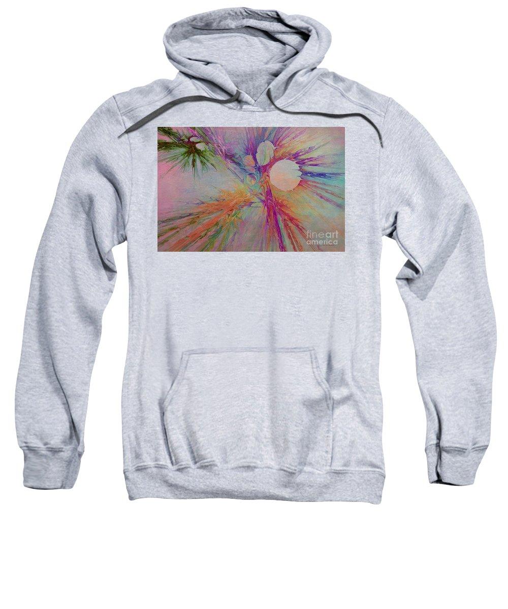 Abstract Sweatshirt featuring the digital art Mind Energy Aura by Deborah Benoit