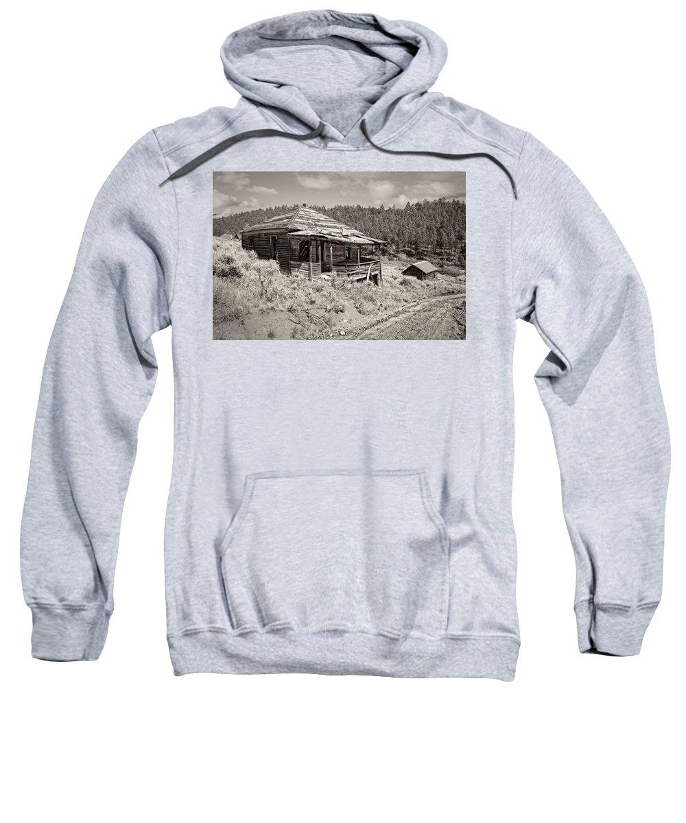 Montana Sweatshirt featuring the photograph Miner's Shack - Comet Ghost Mine - Montana by Daniel Hagerman
