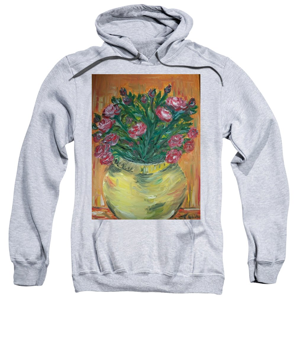 Roses Sweatshirt featuring the painting Mini Roses by Teresa White