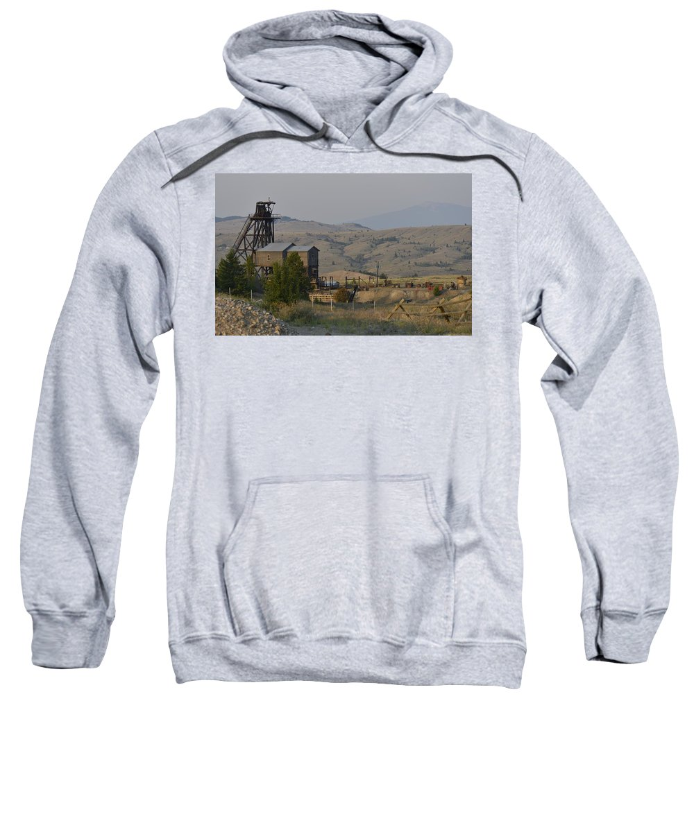 Butte Sweatshirt featuring the photograph Mining In Butte by Image Takers Photography LLC - Carol Haddon