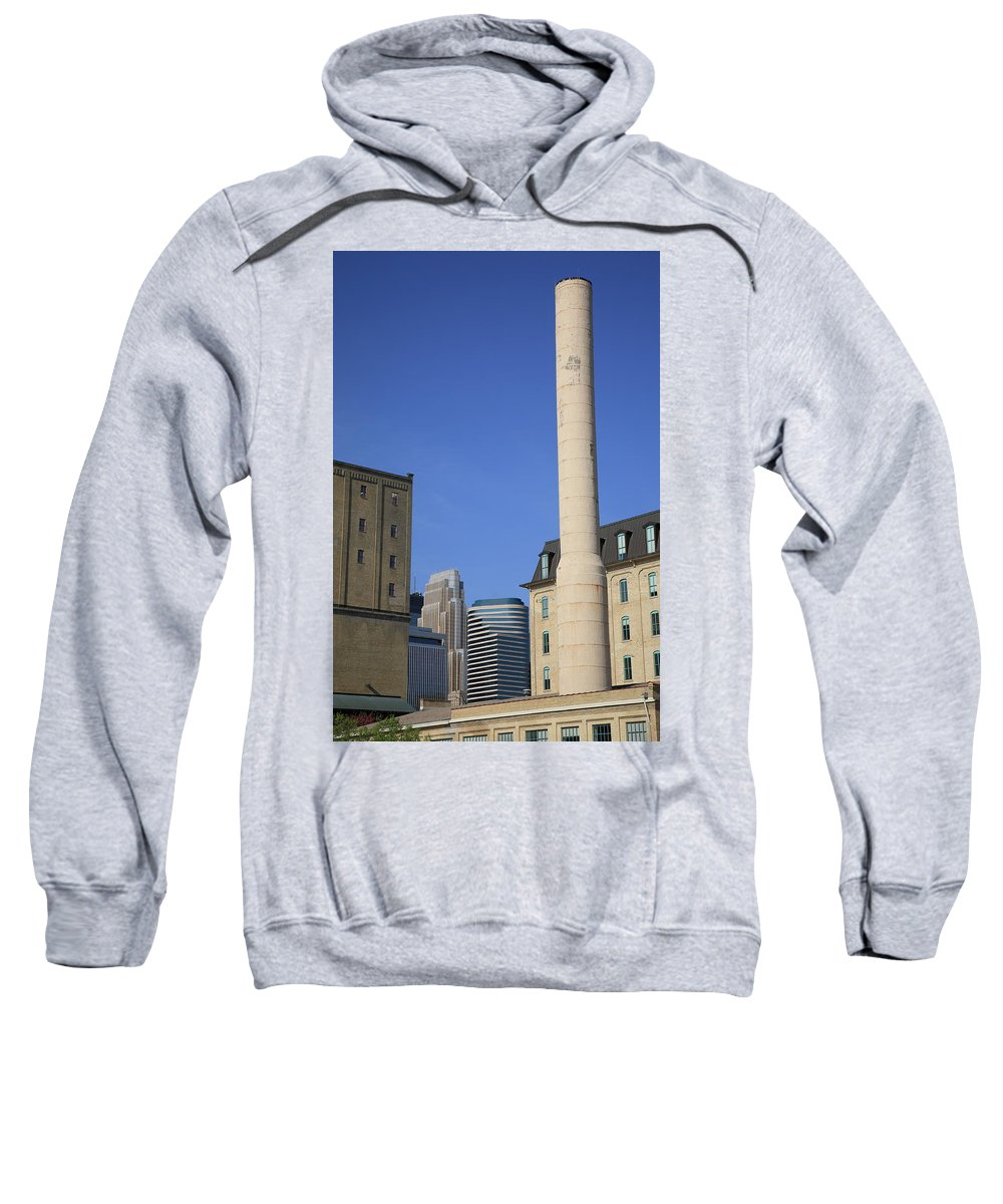 America Sweatshirt featuring the photograph Minneapolis Smokestack by Frank Romeo