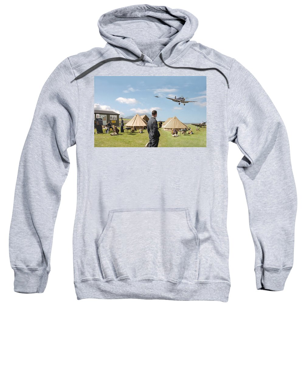 Aircraft Sweatshirt featuring the digital art Missing by Pat Speirs