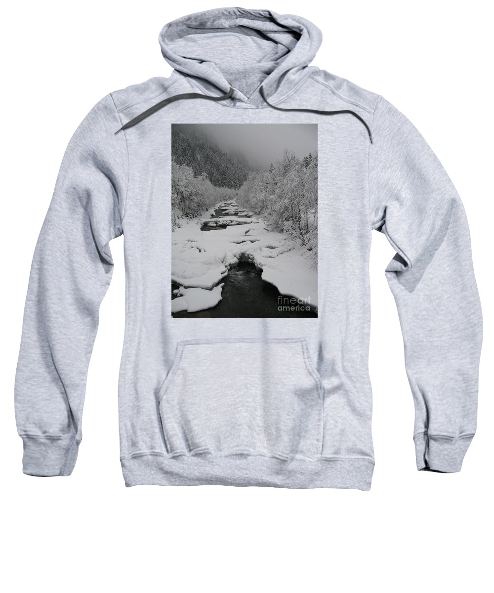 Creek Sweatshirt featuring the photograph Mist Above The Creek by Christiane Schulze Art And Photography