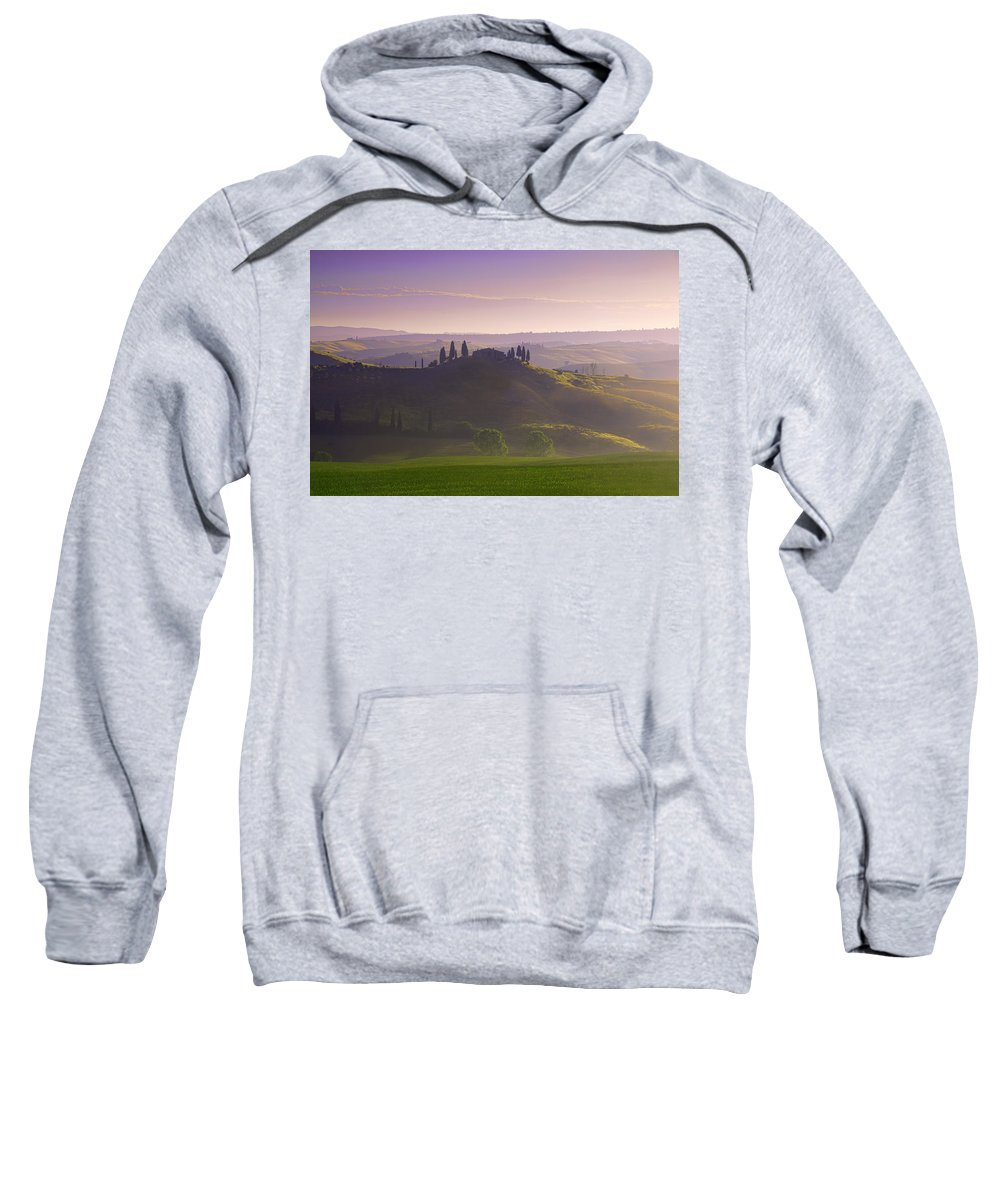 Tuscany Sweatshirt featuring the photograph Misty Morning by Midori Chan