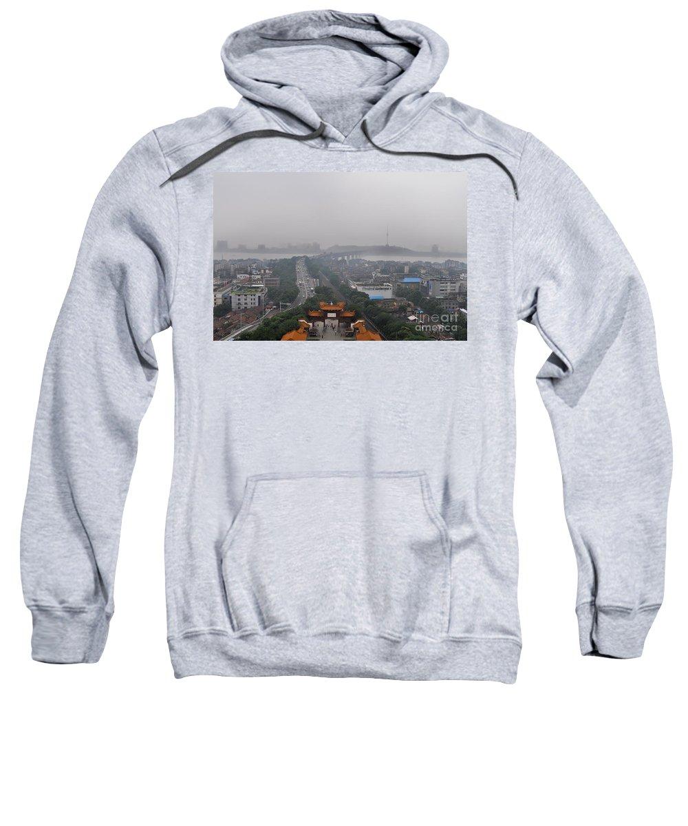 China Sweatshirt featuring the photograph Misty Wuhan by Matt Malloy