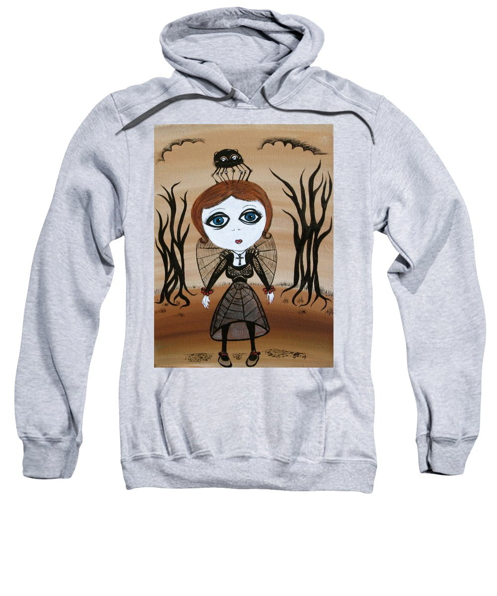 Gothic Sweatshirt featuring the painting Miz Goth by Sue Wright