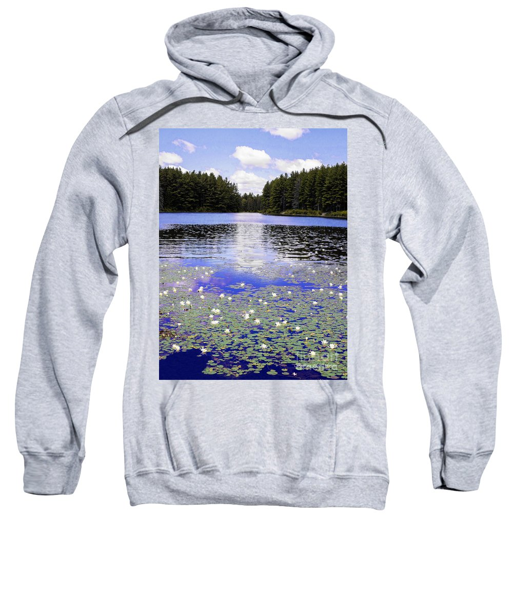 Landscape Sweatshirt featuring the photograph Monet's Prelude by Barbara McMahon