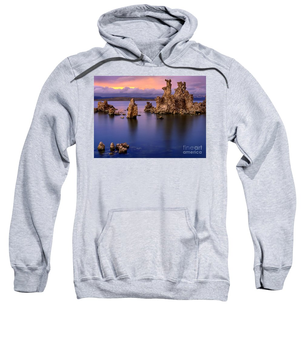 America Sweatshirt featuring the photograph Mono Lake Afterglow by Inge Johnsson