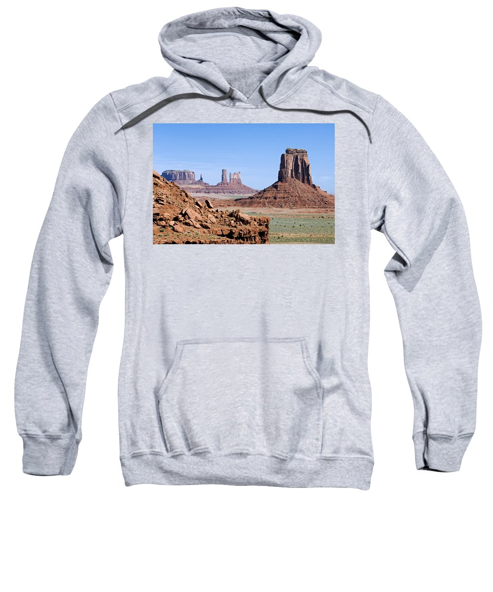 Monument Valley Sweatshirt featuring the photograph Monument Valley 10 by Arterra Picture Library